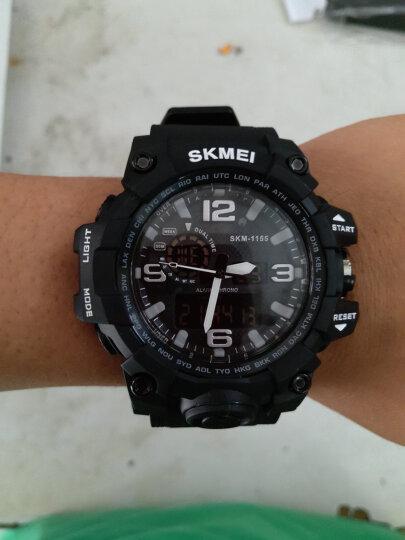 时刻美 skmei 手表男士运动表户外青少年学生夜光双显电子表 1155B迷彩 晒单图