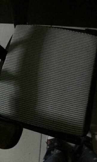 硬质棉坐垫椅垫 餐桌椅子坐垫 梯形温莎椅垫 咖白条方垫 41*45cm 晒单图