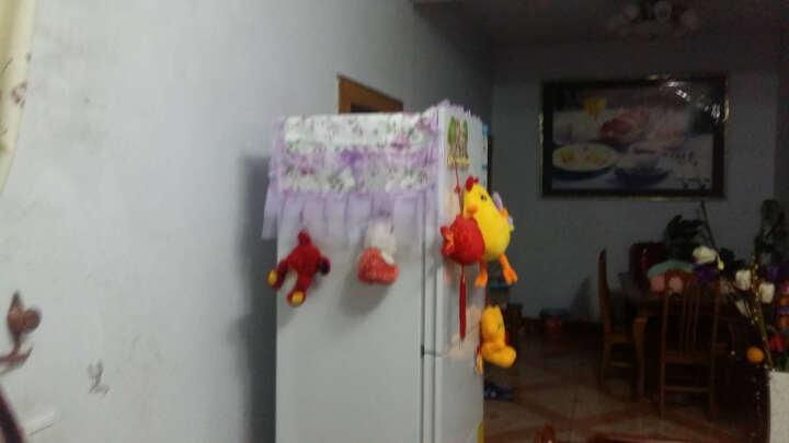 蕾丝冰箱防尘罩对开门冰箱罩双开门冰箱巾帘套单开门万能盖巾盖布 繁花似锦-米 双开门/对开门 晒单图