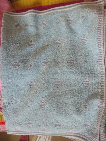 金号纯棉无捻提缎提花枕巾G2056H蓝色两条装 晒单图