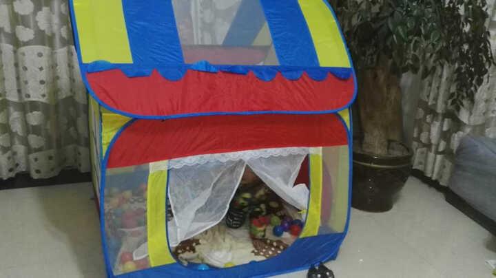 澳乐儿童帐篷安全无味 便携魔术大房子 公主玩具宝宝游戏屋 大房子+200海洋球 晒单图