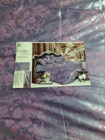 熙云阁家纺 提花四件套床品贡缎提花AB版欧式被套婚庆套件4件套床上用品 似水柔情-玫粉 1.8米床/被套200*230 晒单图