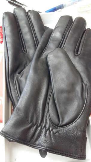 百尚意特皮手套男士 冬季保暖羊皮手套男士小山羊皮手套M7 非触屏黑色 L 晒单图