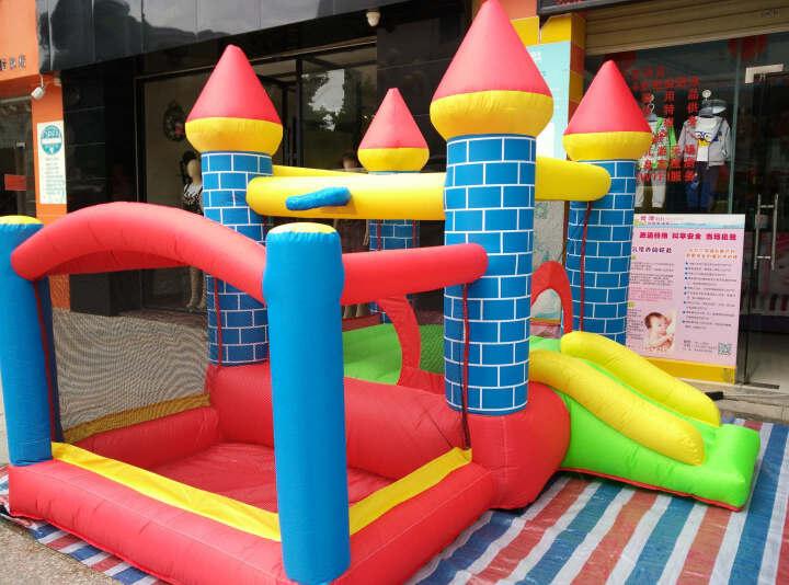 博士豚 儿童充气城堡淘气堡游乐场玩具跳床滑滑梯户外大型蹦蹦床 晒单图