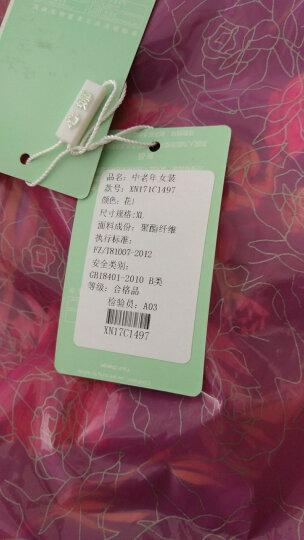 心娜2017冬季中老年女装妈妈装冬装宽松加绒加厚棉衣棉服老人外套1497 花色5 XL 晒单图