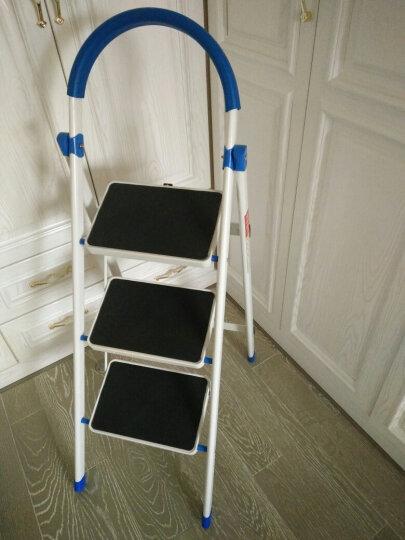 密林 A级款家用梯 折叠梯 梯子家用 梯 人字梯三步梯防滑安全梯ML-TB03 晒单图