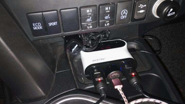 百事泰(Bestek)一拖三点烟器带开关 车载充电器扩充器双USB 一分三车充插座 汽车电源分配器 升级版 电压检测 晒单图