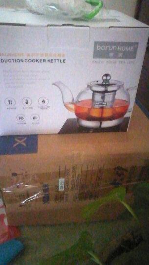 BORUNHOME玻璃茶壶 可加热茶壶耐热玻璃壶带过滤网泡茶壶耐高温煮茶壶养生茶具花茶壶 900ML壶+4茶杯+电陶炉 晒单图