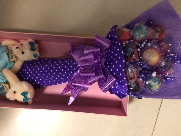 卡米乐花束星空棒棒糖10支创意礼盒装星光糖果520情人节送女友礼物星球糖 英雄联盟糖果 晒单图