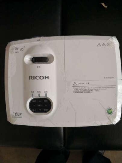 理光(RICOH) 投影仪高清商务办公培训教育投影 (KW3360升级版) KW3660 官配+100英寸16比9白塑电动幕 晒单图