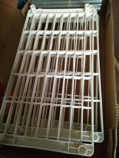 亚思特(YASITE)  置物架厨房层架塑料落地收纳储物架 浴室客厅整理架子四层Z614 颜色如图 晒单图