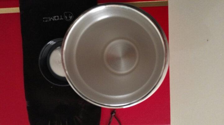 TOMIC特美刻乐茶杯保温杯 男银制内胆银杯不锈钢水杯子泡茶杯 999纯银高档水杯礼品雪花银杯子1BBS1260亮红色 晒单图