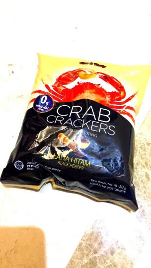 印尼进口 奥嘉莱 O'Garlos 蟹片 黑胡椒味 30克 晒单图
