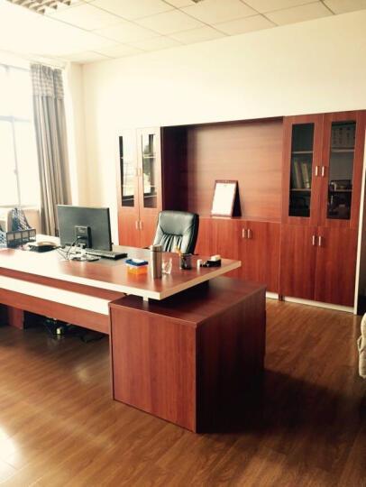 赣康(GANKANG) 办公家具办公桌上海总经理桌板式主管桌电脑桌大班台总裁老板桌接待桌 8门文件柜 晒单图