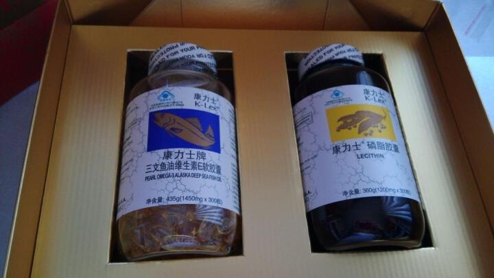 康力士美国原装进口 深海鱼油300粒+卵磷脂300粒礼盒装 晒单图
