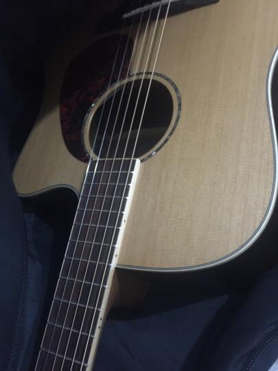 拉维斯  精品古典民谣吉他单板 木吉他 多款多色 40寸41寸  圆角缺角 进口2A红松单板沙比利夹板  41寸 晒单图