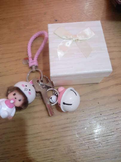 蒙奇奇钥匙链女可爱钥匙扣 儿童节生日礼物男女生礼物 汽车情侣卡通创意挂件 机器猫-粉蓝铃-毛球 钥匙扣 晒单图
