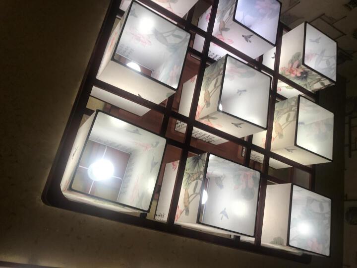 万寿鼎 LED新中式餐厅吊灯客厅灯卧室灯实木饭厅灯装饰中国风仿古灯具D021荷花款 D021荷花款 -1头吊顶 适用3-5平左右 晒单图