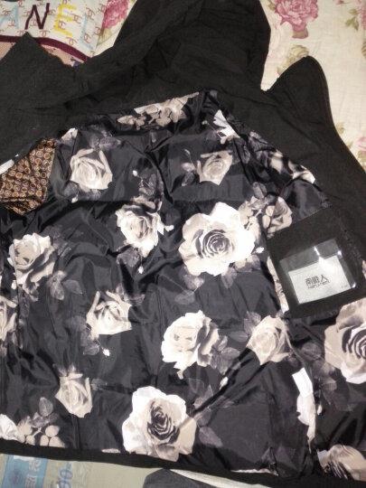 羽绒服男短款秋冬新款韩版修身连帽纯色保暖轻薄羽绒外套 黑色 XL 晒单图