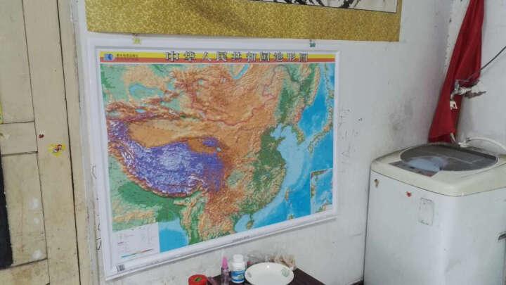 中国地形图挂图 全国地形图 凹凸立体地形图2018新 1.1米*0.8米星球地图出版社 晒单图