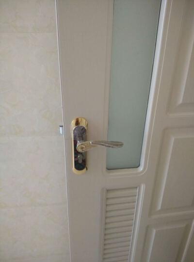 多灵(dorlink) 室内门锁合页门吸三件套装 家用卧室房间实木门静音锁具 克鲁尼 银色右外合页门吸套装 晒单图