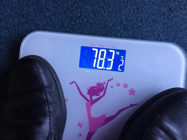 加能 家用智能体重秤人体称重电子秤 USB可充电减肥瘦身准确计量母婴儿童测量重量健康秤 美人计-舞动青春(充电版粉橙色) 晒单图