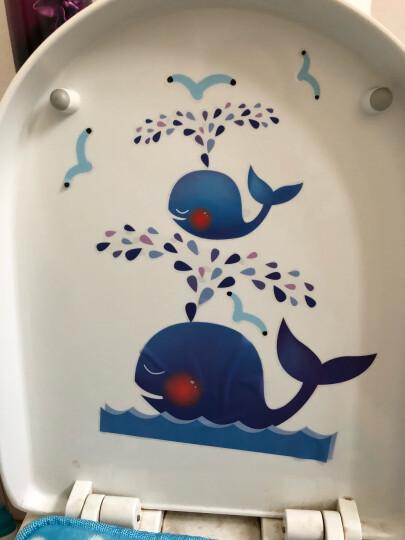 凡雅空间 创意家居卡通墙贴 浴室马桶贴厕所瓷砖居家装饰贴画 卫生间防水贴纸 04沙滩女孩 晒单图