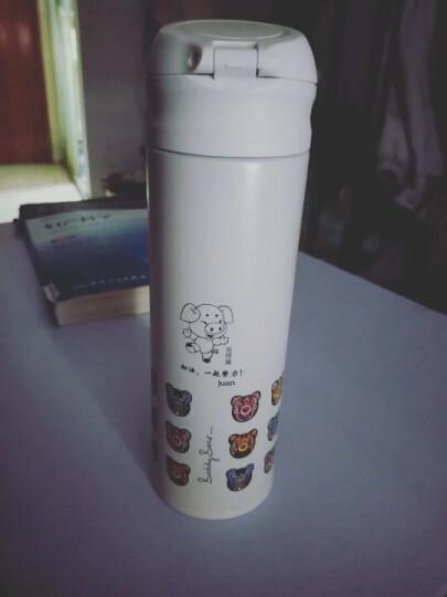 杯具熊(beddybear) 双层不锈钢保温杯女可爱焖烧杯情侣杯礼品学生杯子定制 木马 480ml 晒单图