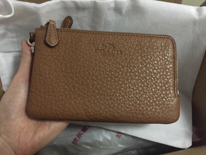 COACH 蔻驰 奢侈品 女士棕色皮质手拿包零钱包 F66505 IMSAD 晒单图