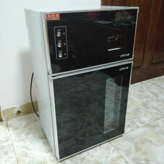 嘉仕利(JIASHILI) 高低温餐具消毒柜 双门大容量家用商用台式消毒碗柜立式迷你小型 E51 78L  高0.72米 红色款 晒单图
