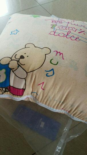 迎馨 床品家纺 全棉多功能汽车抱枕靠垫被 空调夏凉两用被子 小熊 黄 晒单图