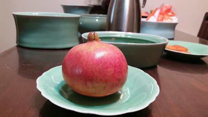 瓯江(OUJIANG)龙泉青瓷牡丹中餐盘冷菜垫盘玫瑰菜盘陶瓷家用平盘 9寸牡丹粉青 晒单图