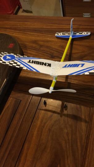 益普 滑翔机航模 中天轻骑士橡筋动力模型 飞机闪电格子图案航模滑翔机 比赛 随机色 比赛选:飞机+进口橡筋+绕线器 晒单图