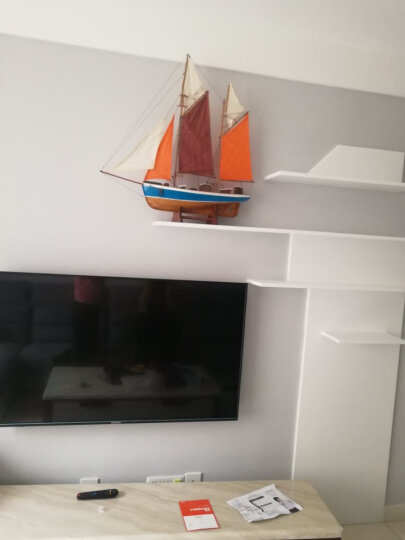Snnei 客厅摆件一帆风顺帆船模型办公室家居房间装饰品欧式家具创意小摆件手工艺品艺术品 原色风帆 长75CM*厚16CM*高76CM 晒单图