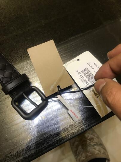 BOTTEGA VENETA BV 宝缇嘉 深咖啡色牛皮编织针扣式皮带腰带 271914 V4650 2006 95码 晒单图