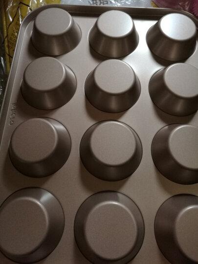 杰凯诺 烘焙工具金色加大蛋糕模具12连杯 烘培马芬蛋挞模送油纸杯 晒单图