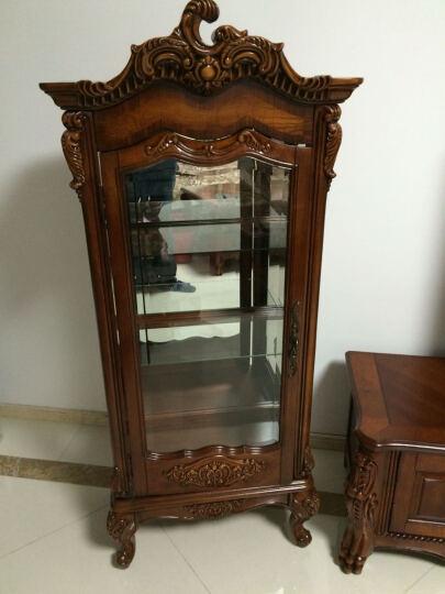 艾理思家具 酒柜 美式实木酒柜 欧式单门酒柜玻璃展示柜 现货 图片色 晒单图