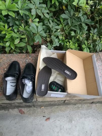 兰顿威登皮鞋商务休闲鞋男士真皮软皮老人鞋子男鞋软底防滑中老年爸爸鞋夏季凉鞋透气镂空洞洞鞋 黑色凉鞋 41 晒单图