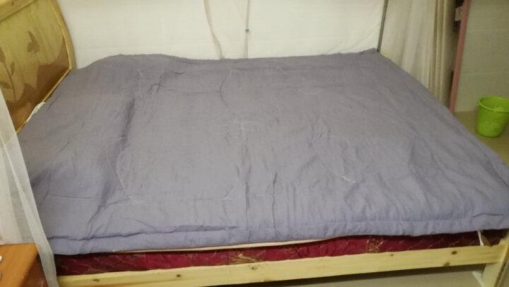 雅鹿·自由自在 被子家纺 水洗棉夏被空调被夏凉被毛巾被芯 单双人夏天薄被子 180*200cm 银灰 晒单图
