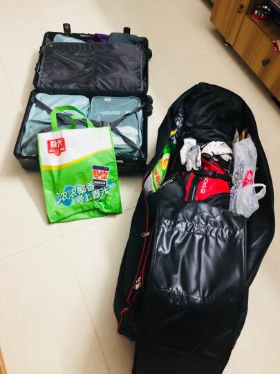 DUNLOP高尔夫航空包 高尔夫球包套带轮子 飞机旅行拖运袋 黑红款 晒单图