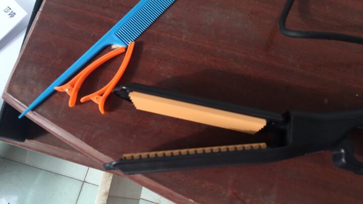 莎婷 专业陶瓷直发器拉直板夹玉米烫蓬松电夹板玉米须波浪烫发器垫发根 六齿玉米夹(垫发根、蓬松明显) 黄色 晒单图