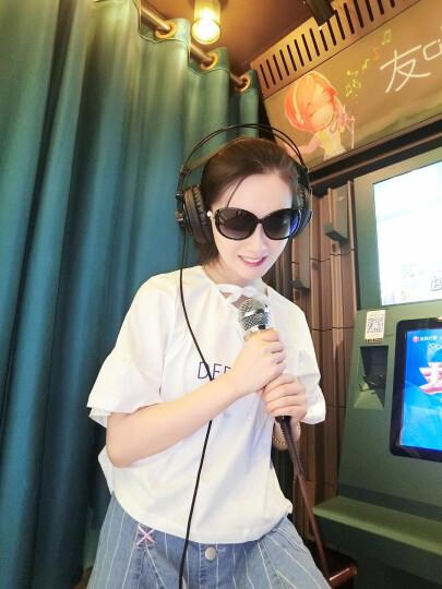 超龙(CHAOLONG)珍珠狐狸头大框偏光太阳镜女士款墨镜眼镜高清眼镜司机开车骑行眼镜(送全套包装) 狐狸款-黑色偏光镜 晒单图