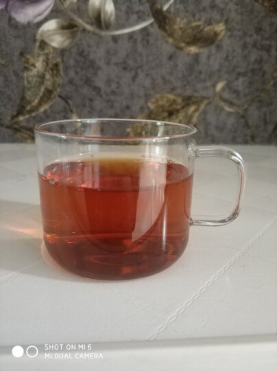 福容办公茶杯耐热玻璃花茶杯304不锈钢过滤泡茶杯手工吹制玻璃杯茶具杯  晒单图