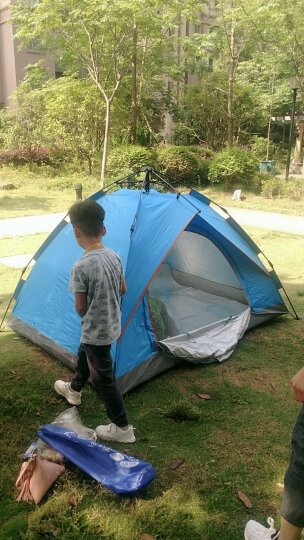 威迪瑞 全自动户外帐篷双人防雨野外露营帐篷免搭建3-4人帐篷套装 套餐四(双人帐篷+防潮垫+充气枕+吊床+睡袋) 晒单图