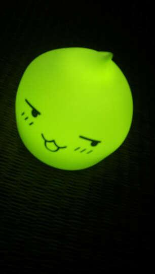 拍拍兔七彩闪光灯led人体感应夜灯充电节能新生儿哺乳小夜灯护眼夜用小台灯可爱卡通氛围照明灯 电池款 贱萌款 晒单图