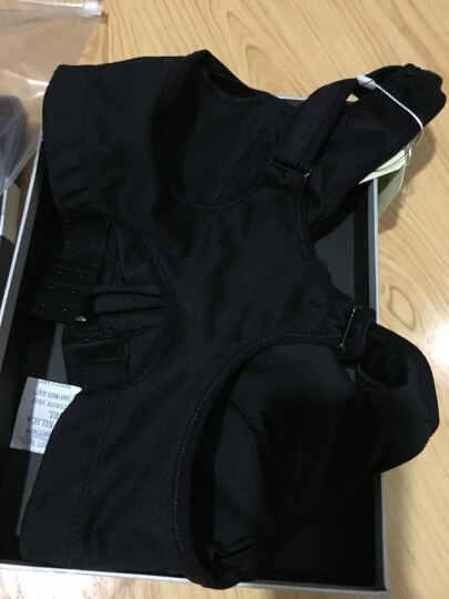 伊莎露美运动文胸专业防震瑜伽透气运动内衣健身跑步背心式聚拢无钢圈胸罩 黑色 M(75D 80A 80B 80C) 晒单图