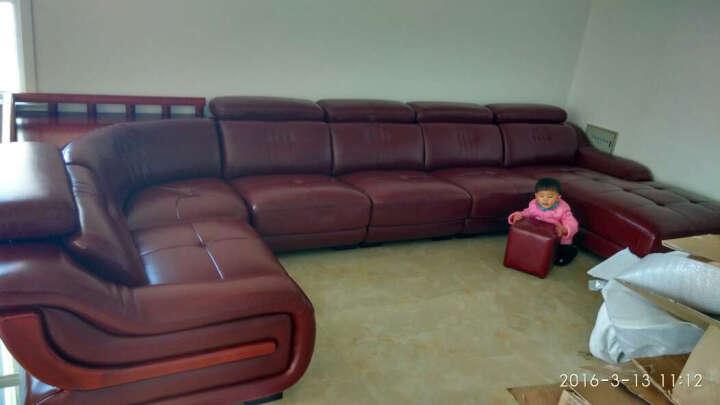 伊甸嘉园 真皮沙发头层牛皮客厅组合家具 现代简约大户型U型转角皮沙发 进口真皮 组合A 晒单图