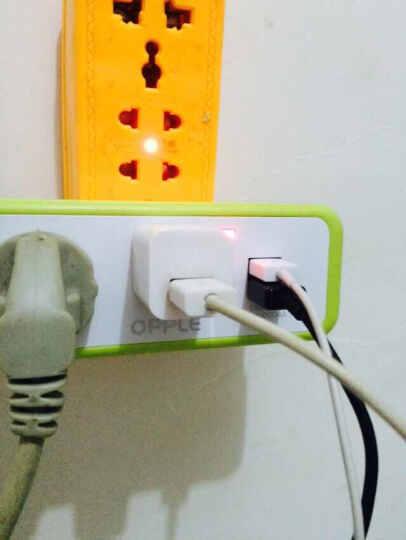 转化插头电源插座转换器 一转多扩展万能多用USB多功能 二个五孔二个USB 晒单图