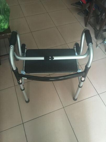 卫宜康 助行器四脚拐杖 可折叠轻便 带座带轮铝合金助行架老人 带轮带座豪华款 晒单图