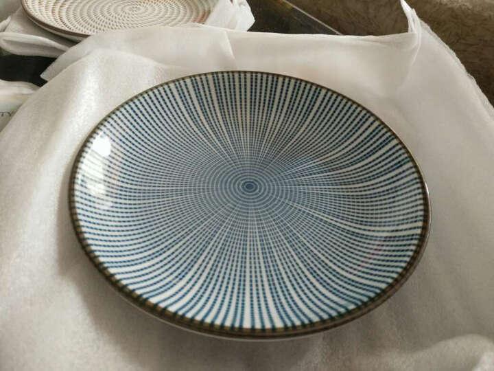 ART UNIVERSE 日式和风无铅陶瓷釉下彩餐具创意盘子圆盘平盘凉菜盘调味碟酱油碟 B款大盘(冰裂纹) 晒单图